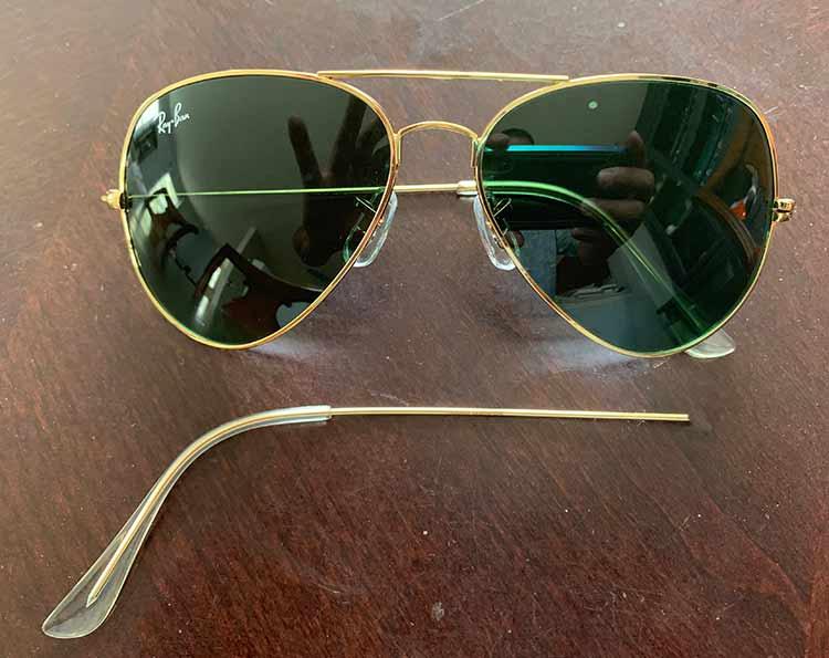 Broken Ray ban Sunglasses Repaired SpecMedics Eyeglass Repair